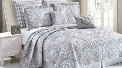 Quilted 7 Piece Bed Spread Set For Less Than $75